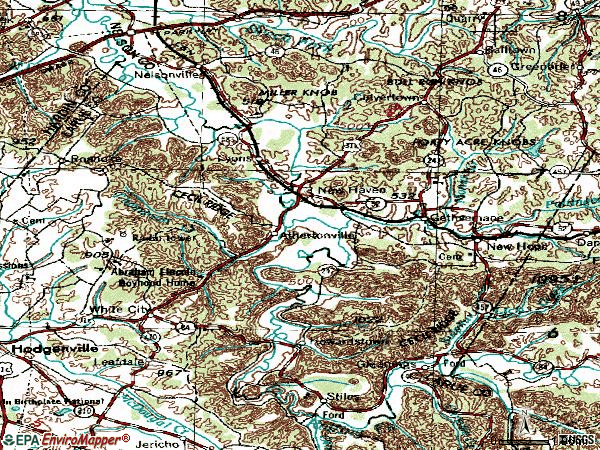 Zip code 40051 topographic map