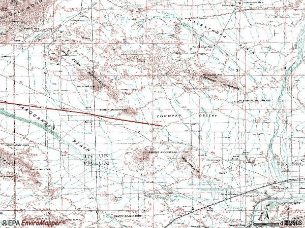 Zip code 85354 topographic map