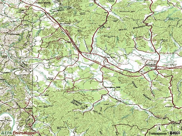 Zip code 40312 topographic map
