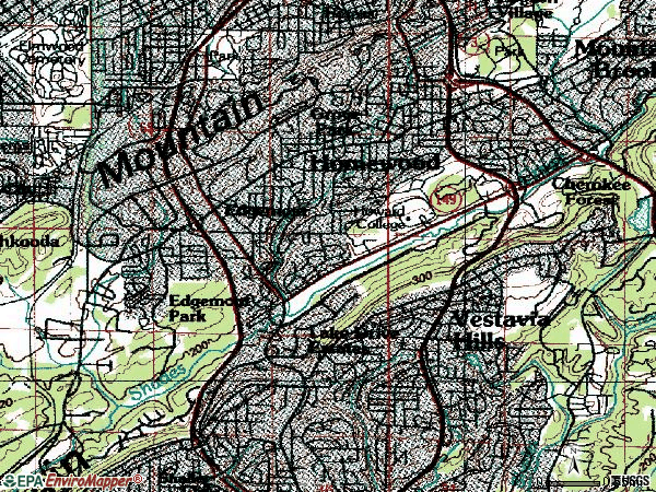 Zip code 35209 topographic map
