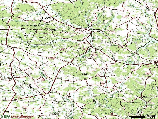 Zip code 40409 topographic map