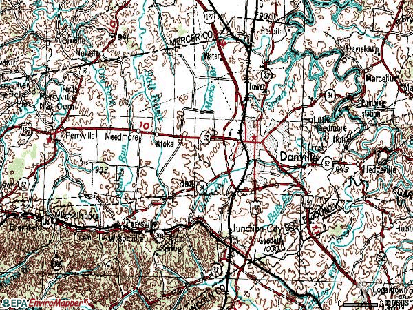 Zip code 40422 topographic map