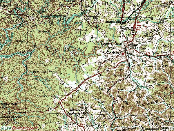 Zip code 40701 topographic map