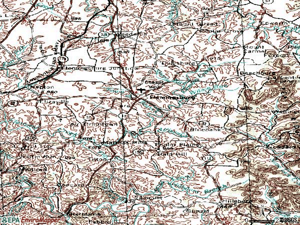 Zip code 41041 topographic map