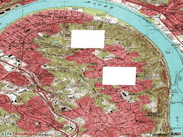 Zip code 41074 topographic map