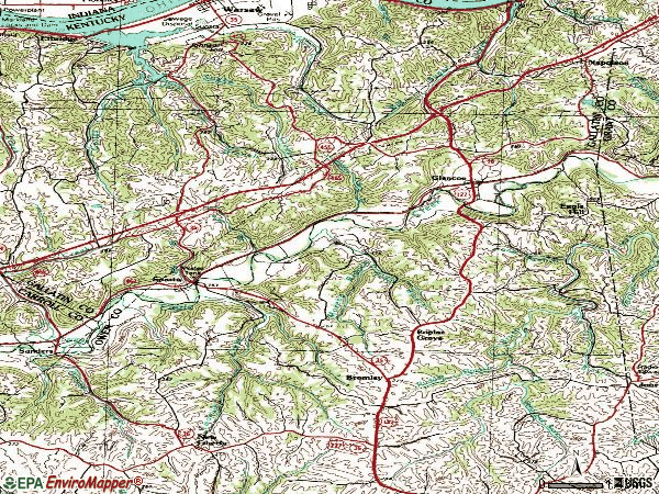 Zip code 41086 topographic map