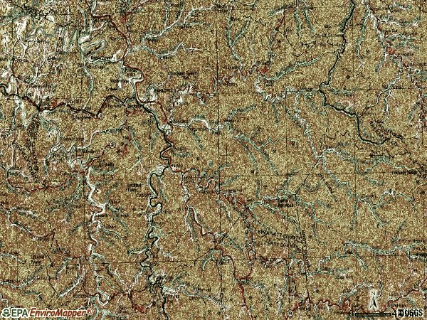 Zip code 41339 topographic map