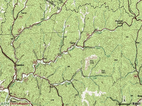 Zip code 41385 topographic map