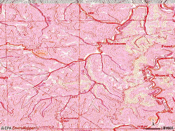 Zip code 41558 topographic map