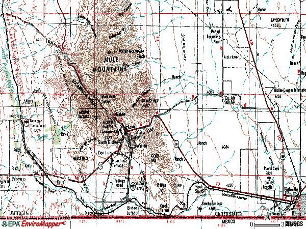 Zip code 85603 topographic map