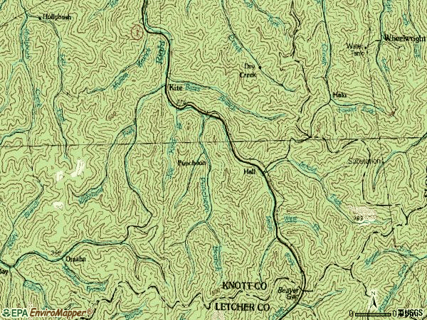 Zip code 41828 topographic map