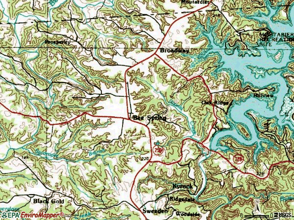 Zip code 42207 topographic map