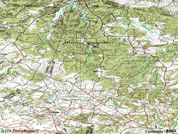 Zip code 42215 topographic map