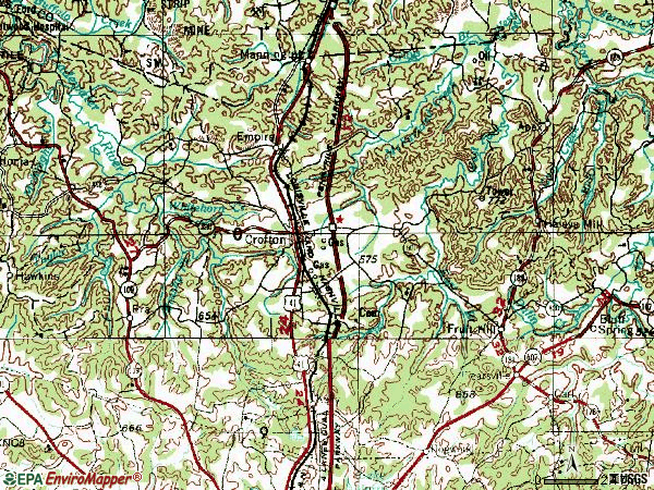 Zip code 42217 topographic map