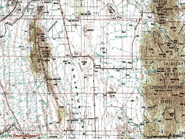 Zip code 85625 topographic map