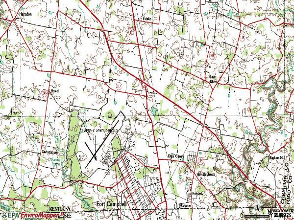 Zip code 42262 topographic map