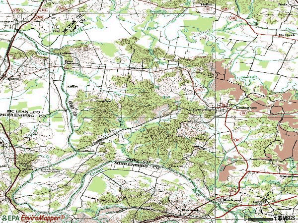 Zip code 42328 topographic map