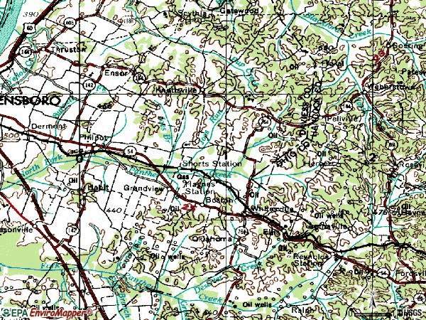 Zip code 42366 topographic map