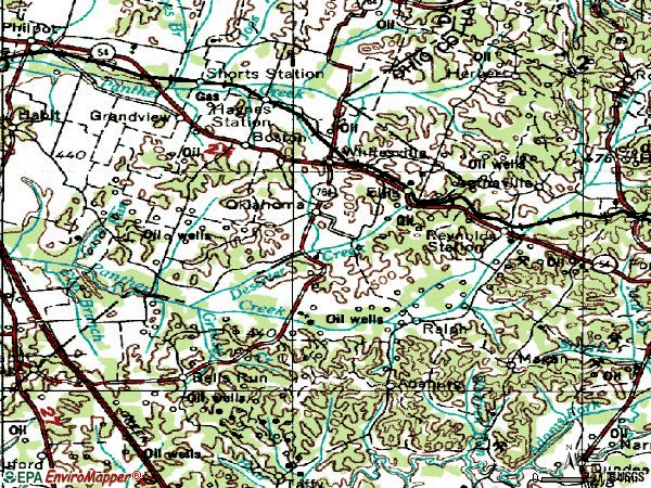 Zip code 42378 topographic map