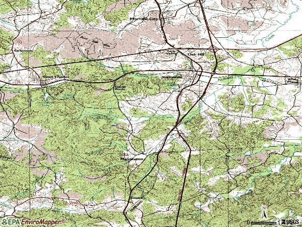 Zip code 42442 topographic map
