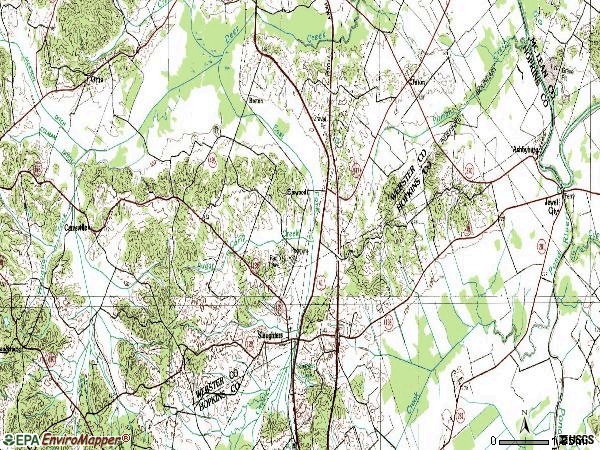 Zip code 42456 topographic map
