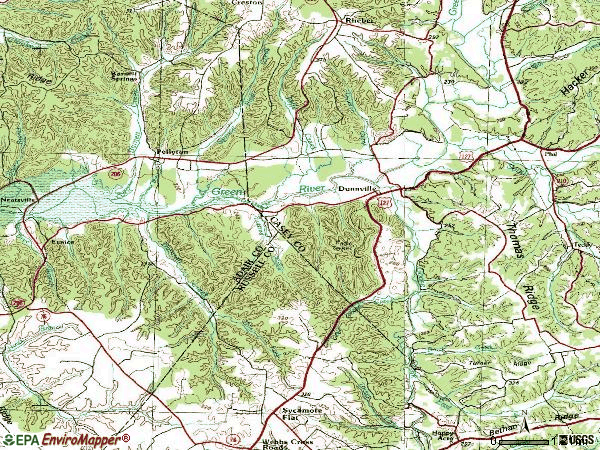 Zip code 42528 topographic map