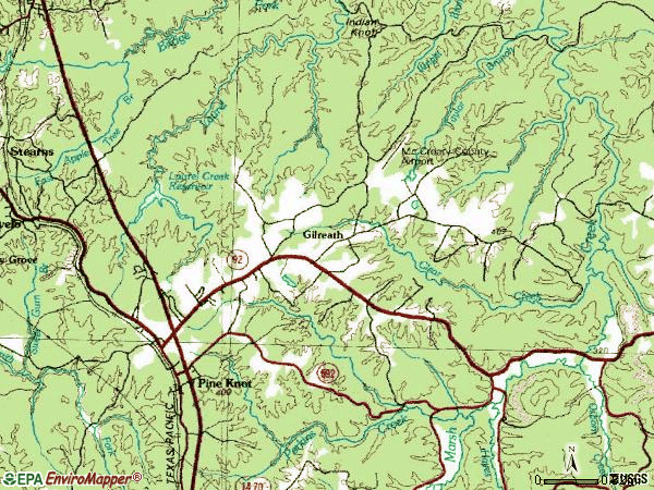 Zip code 42635 topographic map