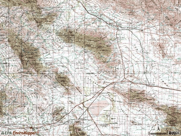 Zip code 85643 topographic map