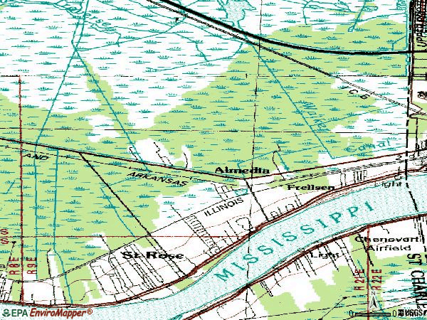 Zip code 70087 topographic map