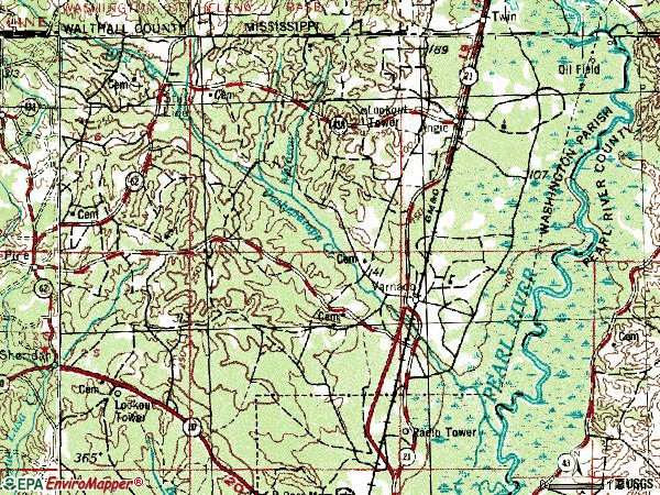 Zip code 70426 topographic map