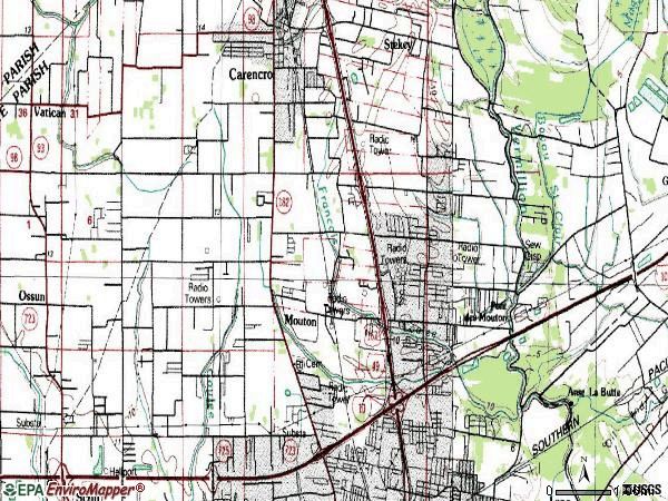 Zip code 70507 topographic map