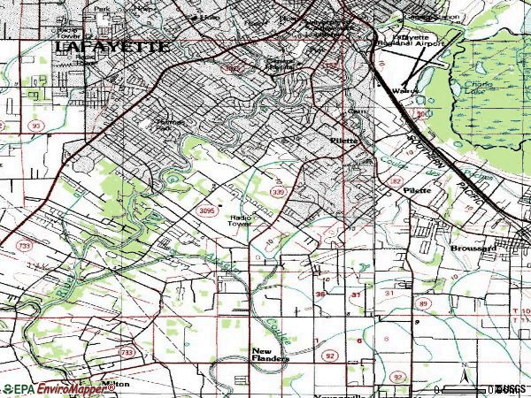 Zip code 70508 topographic map