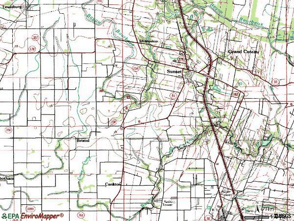 Zip code 70584 topographic map