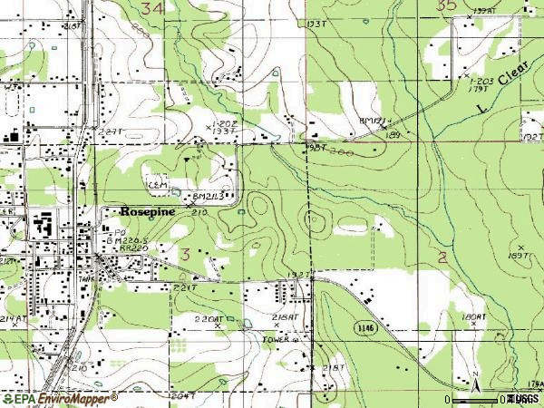 Zip code 70659 topographic map