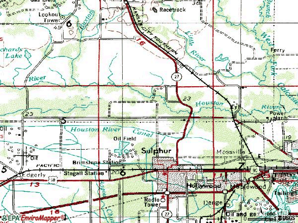 Zip code 70663 topographic map