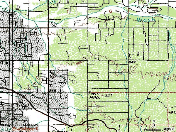 Zip code 85748 topographic map