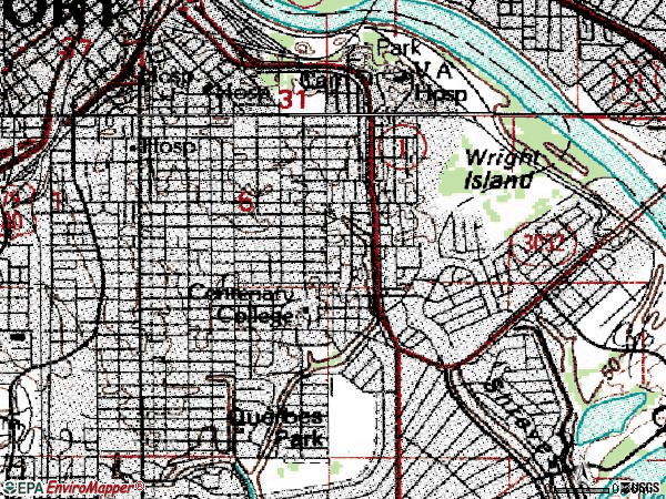 Zip code 71104 topographic map