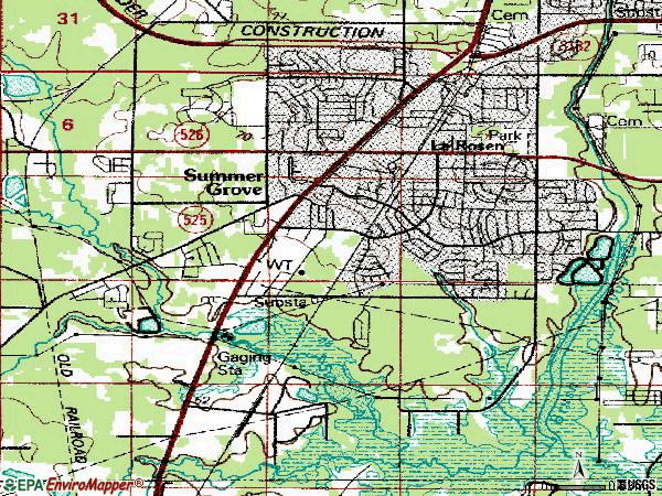 Zip code 71118 topographic map