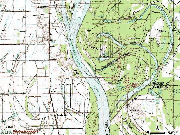 Zip code 71276 topographic map