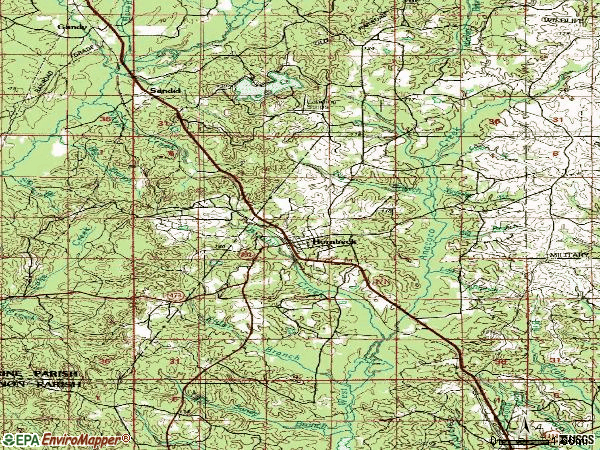 Zip code 71441 topographic map