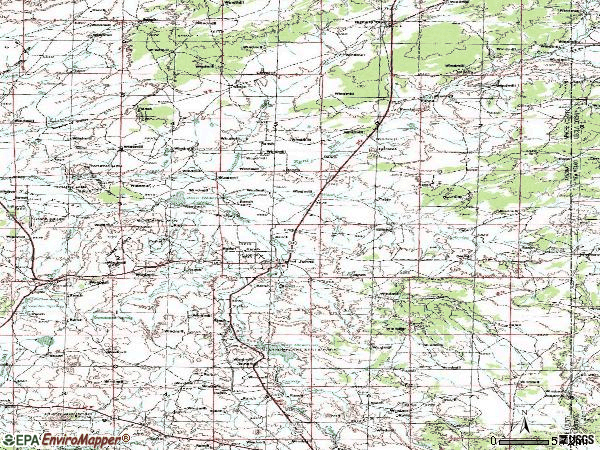 Zip code 85936 topographic map