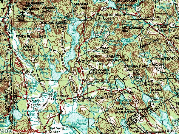 Zip code 04051 topographic map