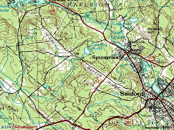 Zip code 04083 topographic map