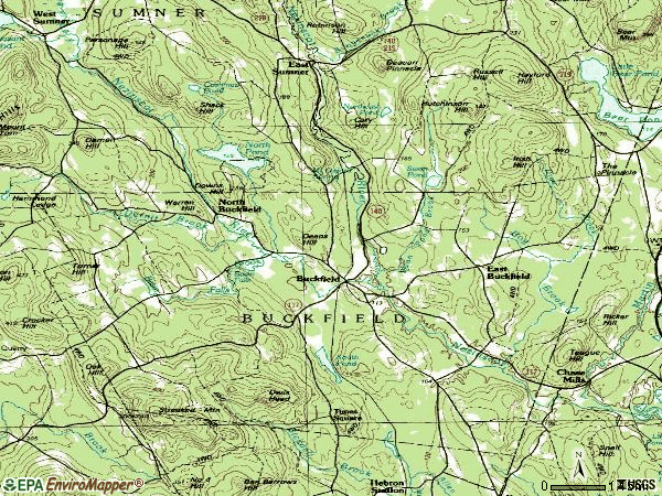 Zip code 04220 topographic map