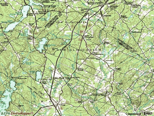 Zip code 04260 topographic map