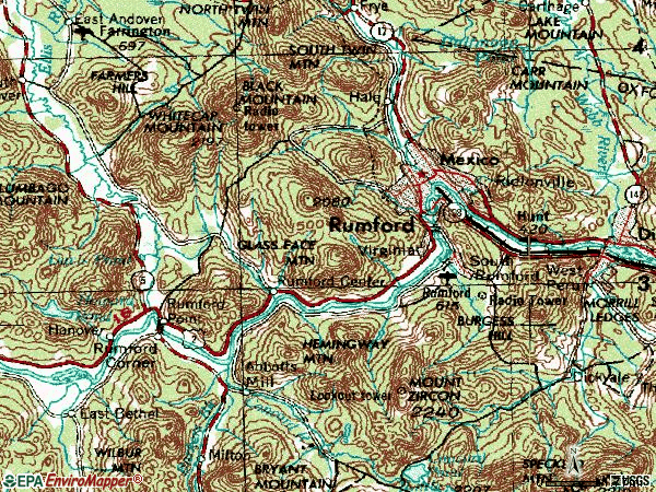 Zip code 04276 topographic map