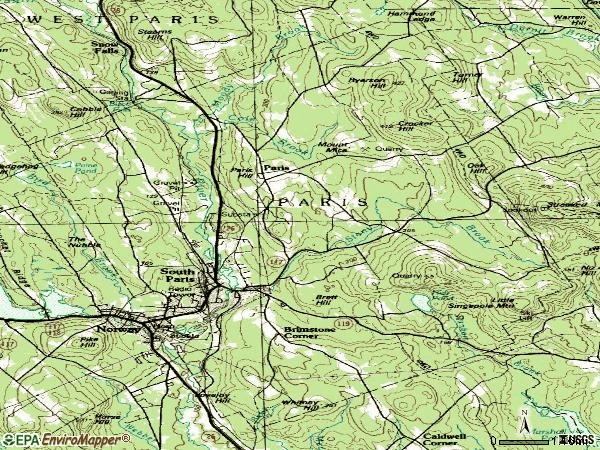 Zip code 04281 topographic map
