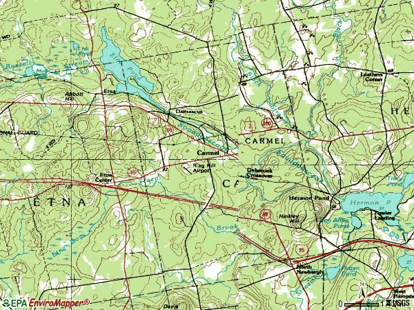 Zip code 04419 topographic map