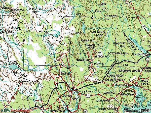 Zip code 04623 topographic map