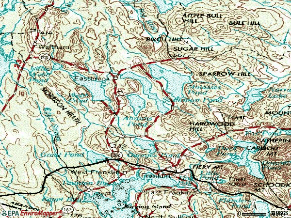 Zip code 04634 topographic map